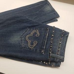 Express Rerock studded straight leg jeans size 4.